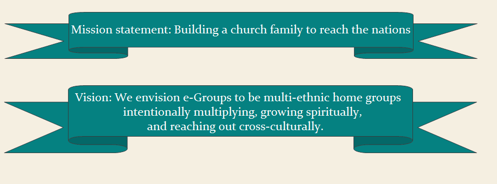 mission and vision for egroup page