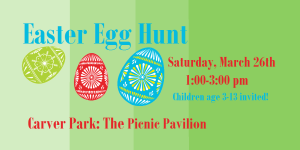 easter egg hunt at carver park